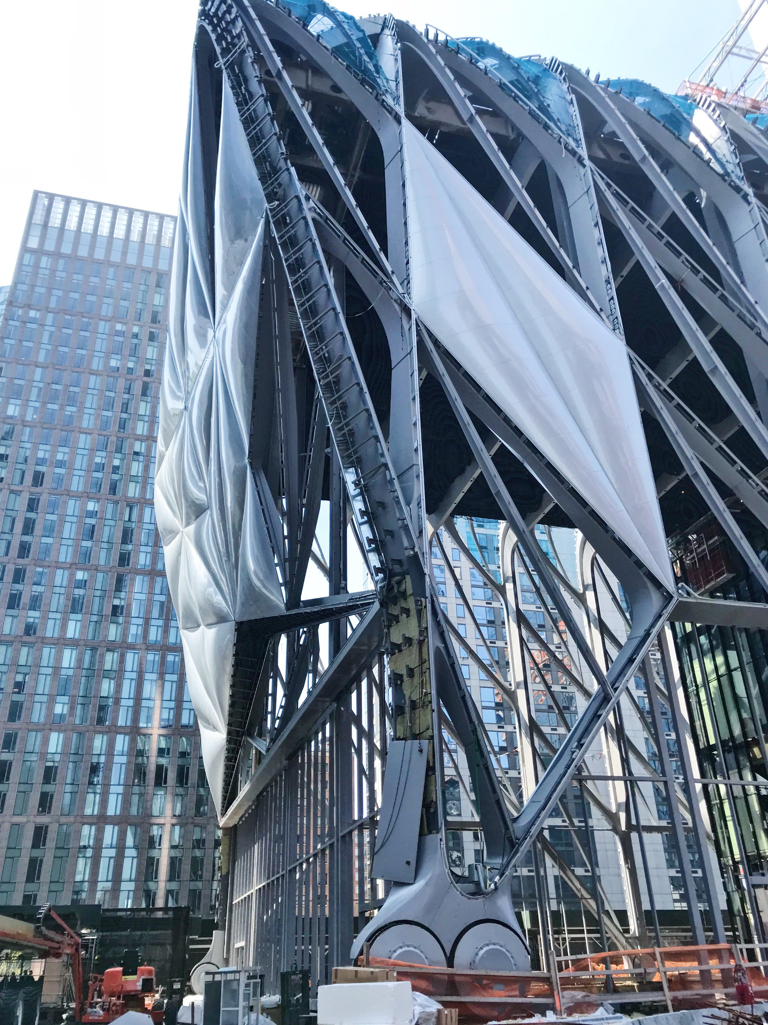 """ETFE panels on the Culture She which is now just referred to as """"The Shed""""."""