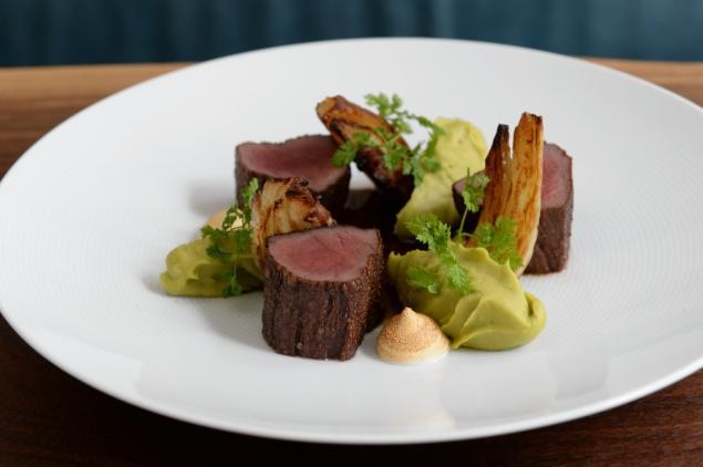 Someone else's picture of both the Musket Room and their delicious venison.