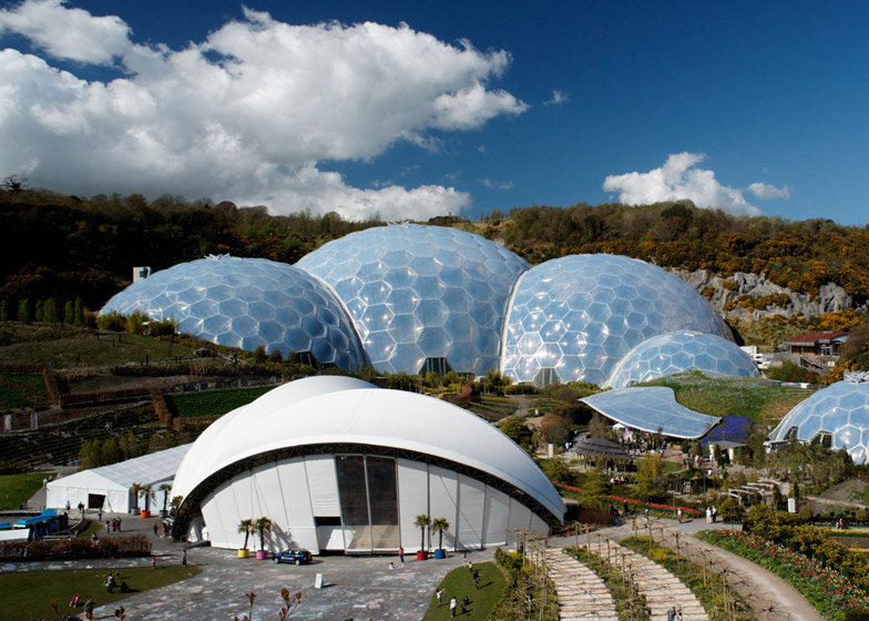 Eden project in Cornwall, completed in 2001.
