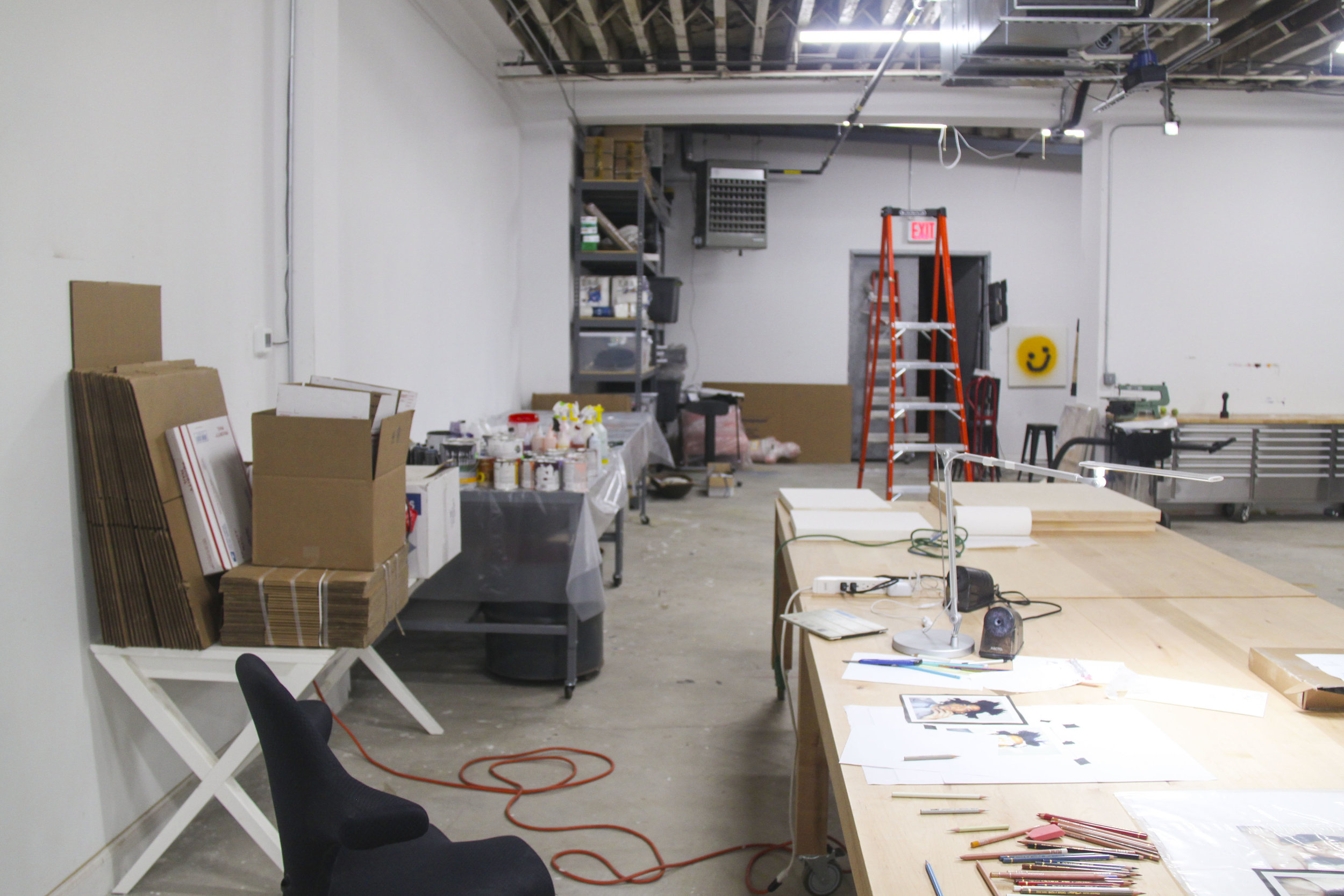Inside the Greenpoint studio.