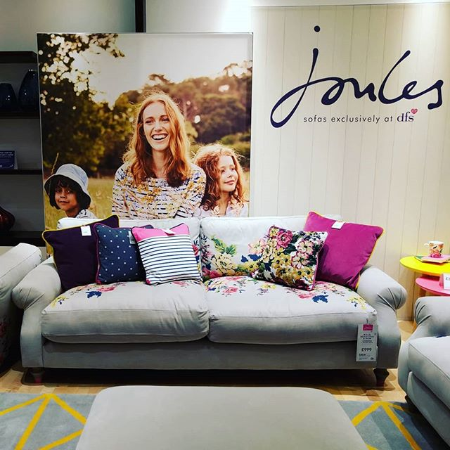 Spent our Date Day looking at Sofa Porn.. & trying some out 😍 This Joules Sofa is my DREAM! #joules #dfs #sofa @pottre11