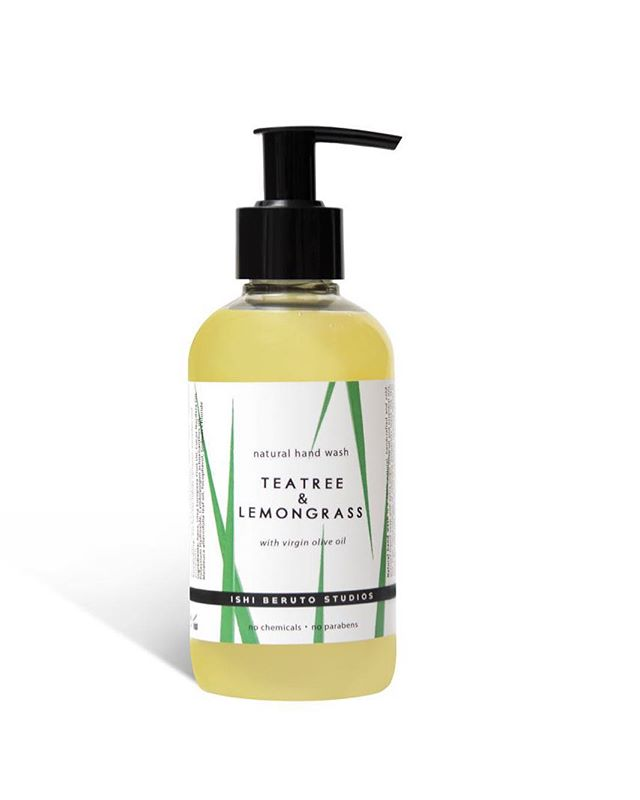 We are happy to welcome our latest launch! The new teatree and lemongrass natural hand wash. Available in selected stores and very soon online. #ishiberuto #ishiberutostudios #naturalhandsoap #soap