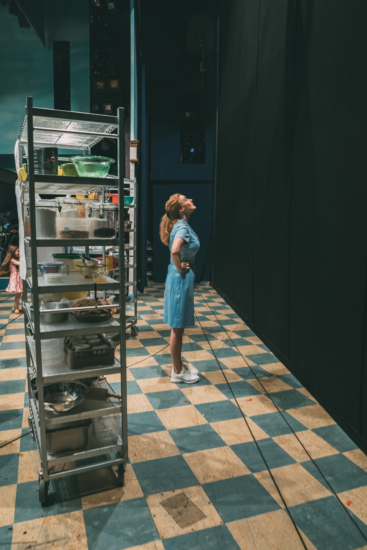 Betsy takes it all in before the curtain rises. © Broadway.com • Production photos by Caitlin McNaney