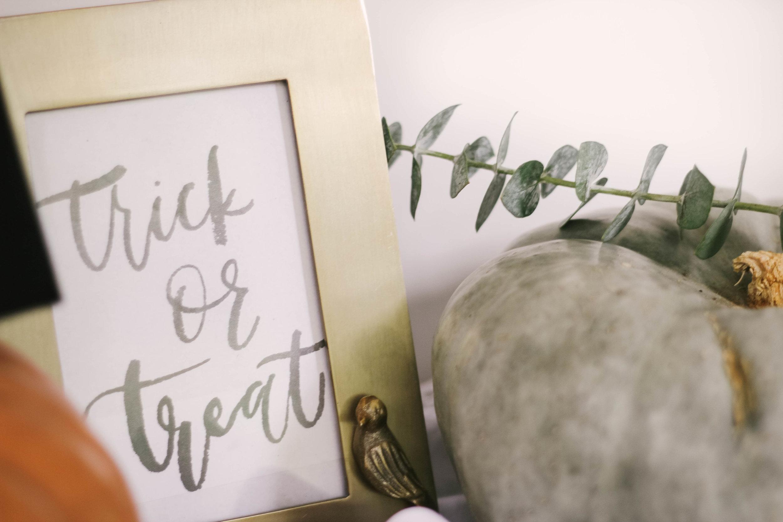 Free Printable Halloween Hand Lettered Brush Print