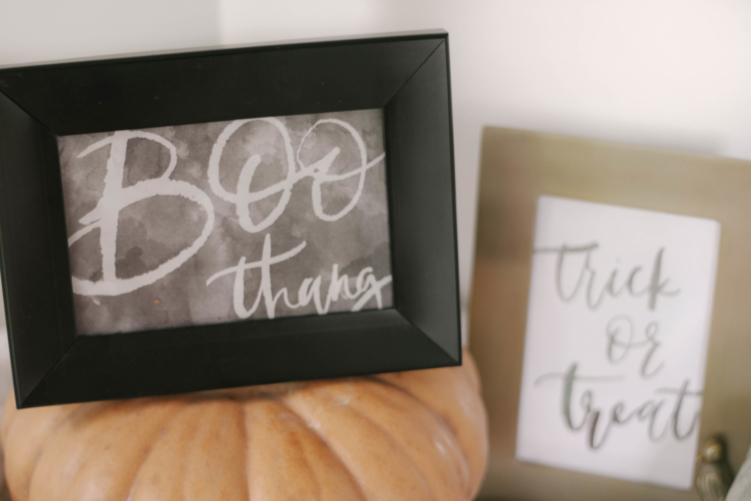 Free Printable Halloween Watercolor Hand Lettered Brush Print