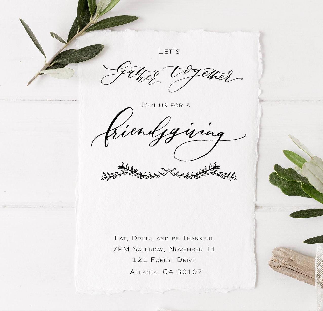 Free Friendsgiving Printable Invitation