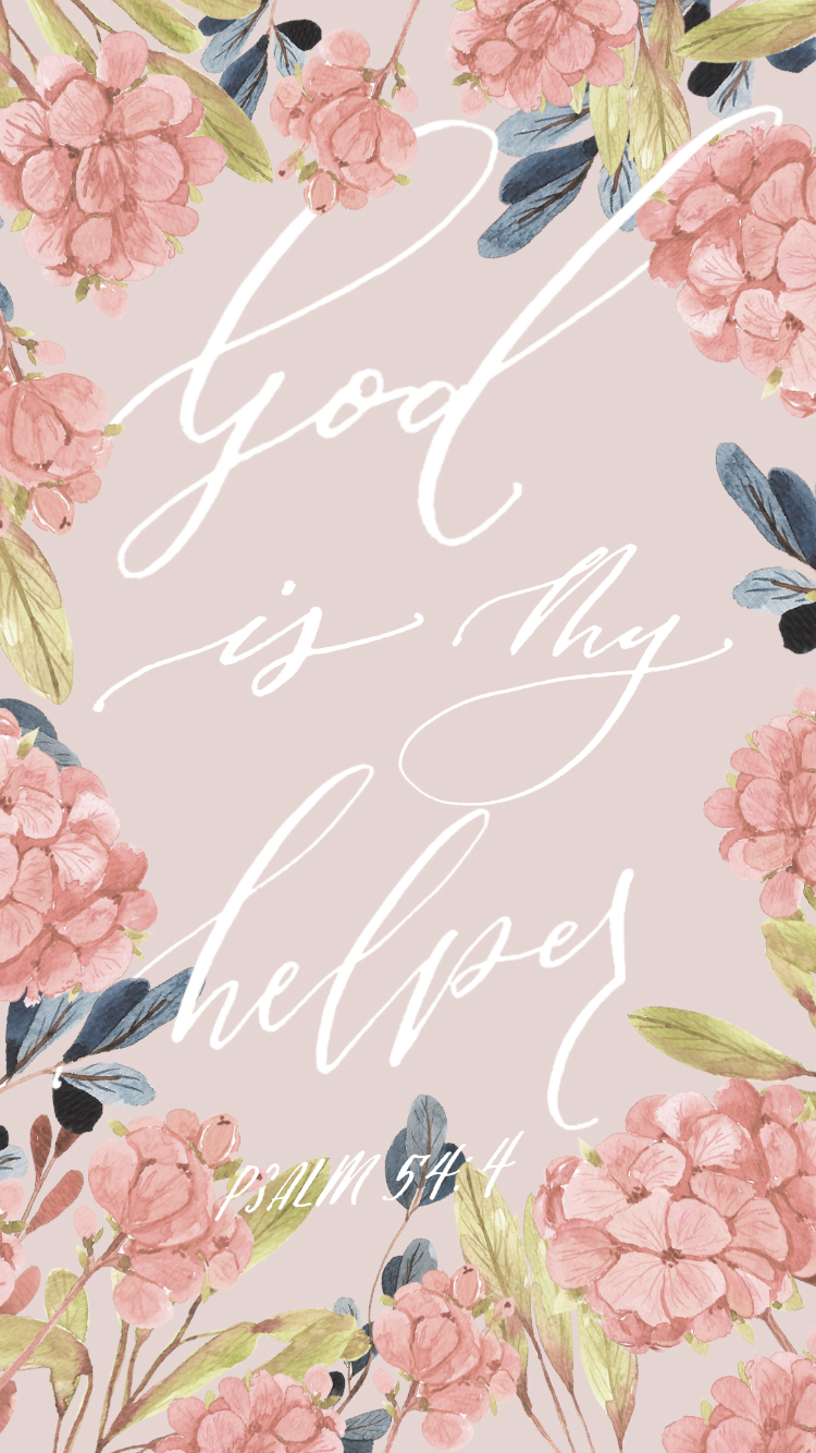 God is my helper phone wallpaper background