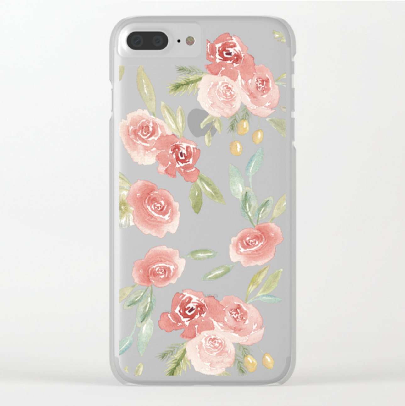 Loose Watercolor Floral Pattern Clear