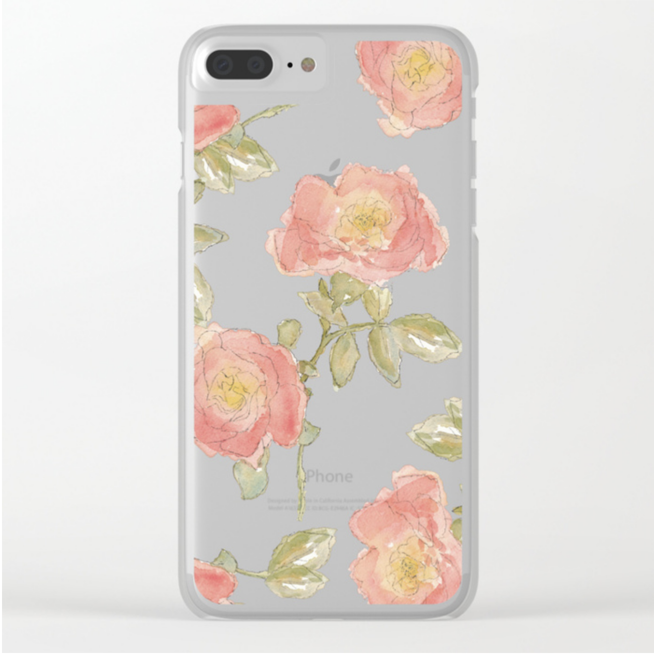 Loose Inky Watercolor Floral Pattern