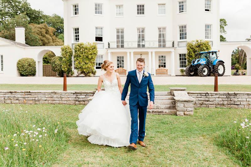 White luxury Manor House in Devon