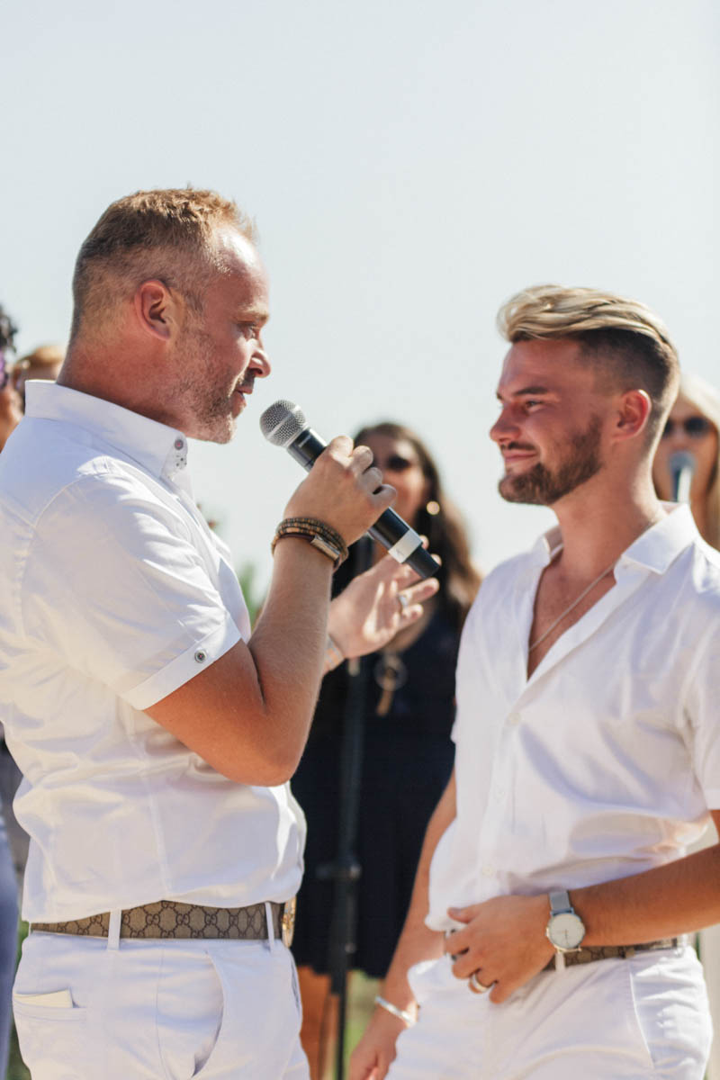 Gay men say their wedding vows at Barcelona ceremony
