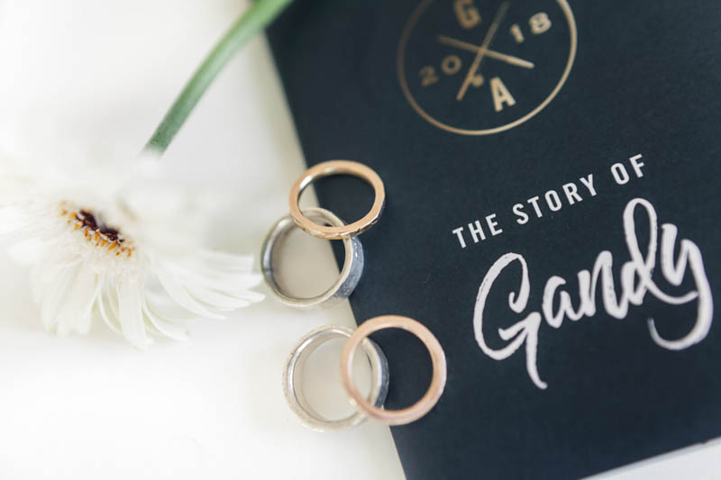 Luxury wedding invite and platinum handmade wedding rings