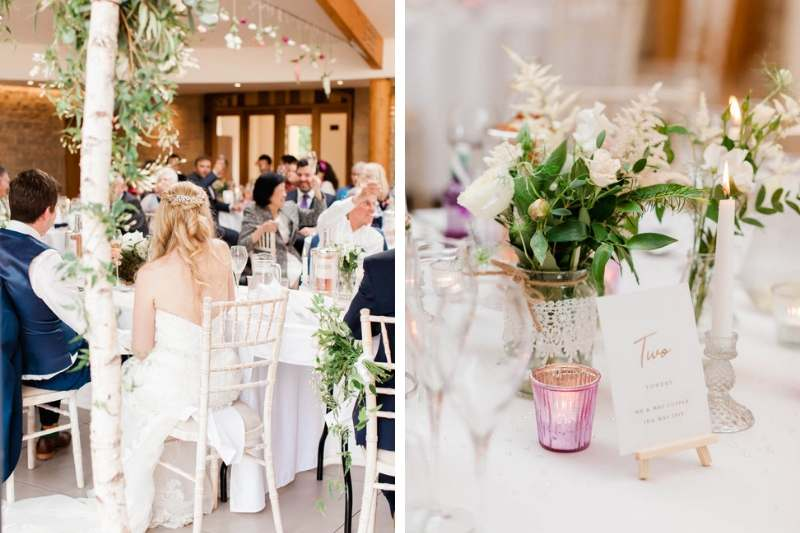 Wedding speeches inside the grand ballroom
