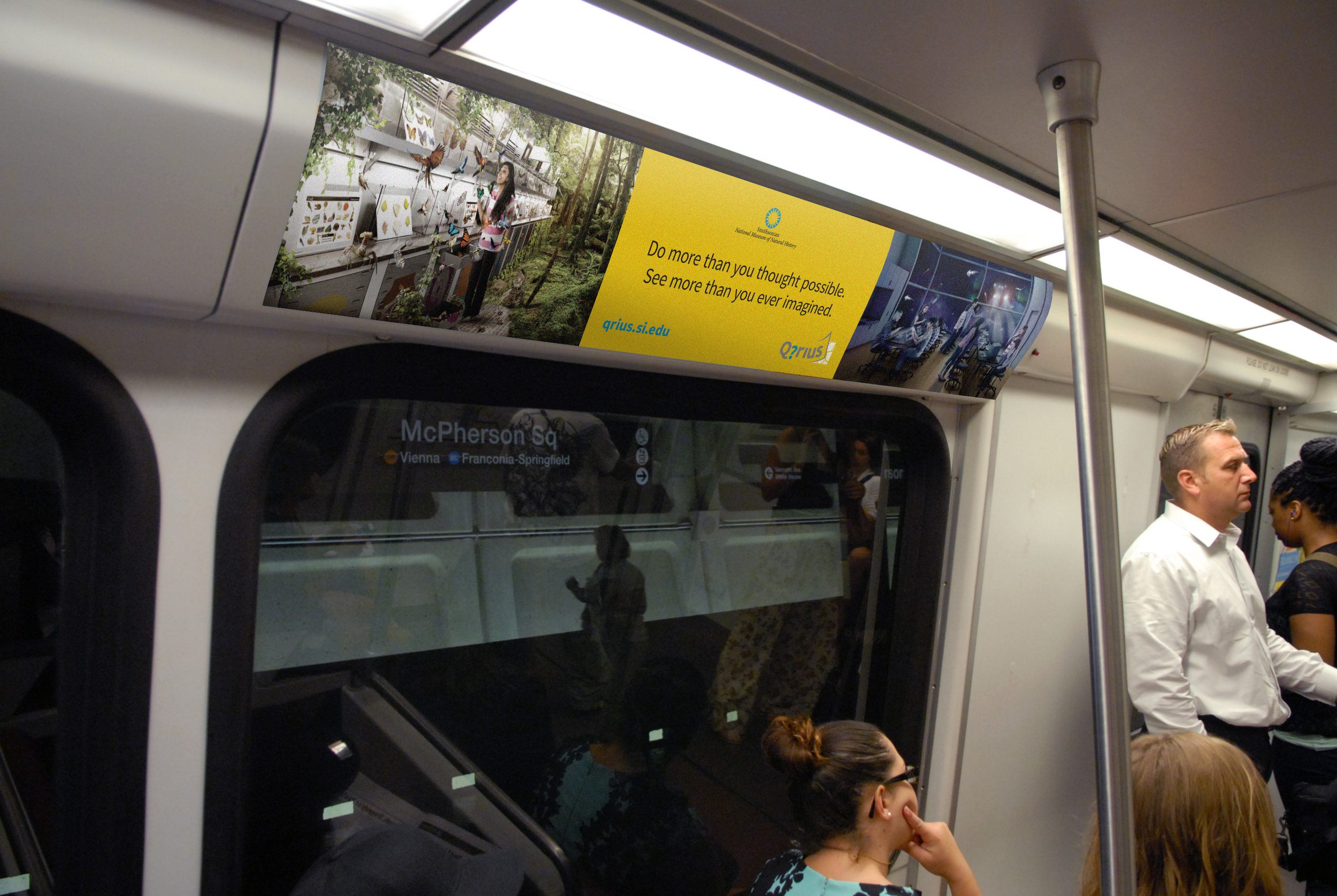 Transit ads: car domination on Metrorail Blue and Orange lines