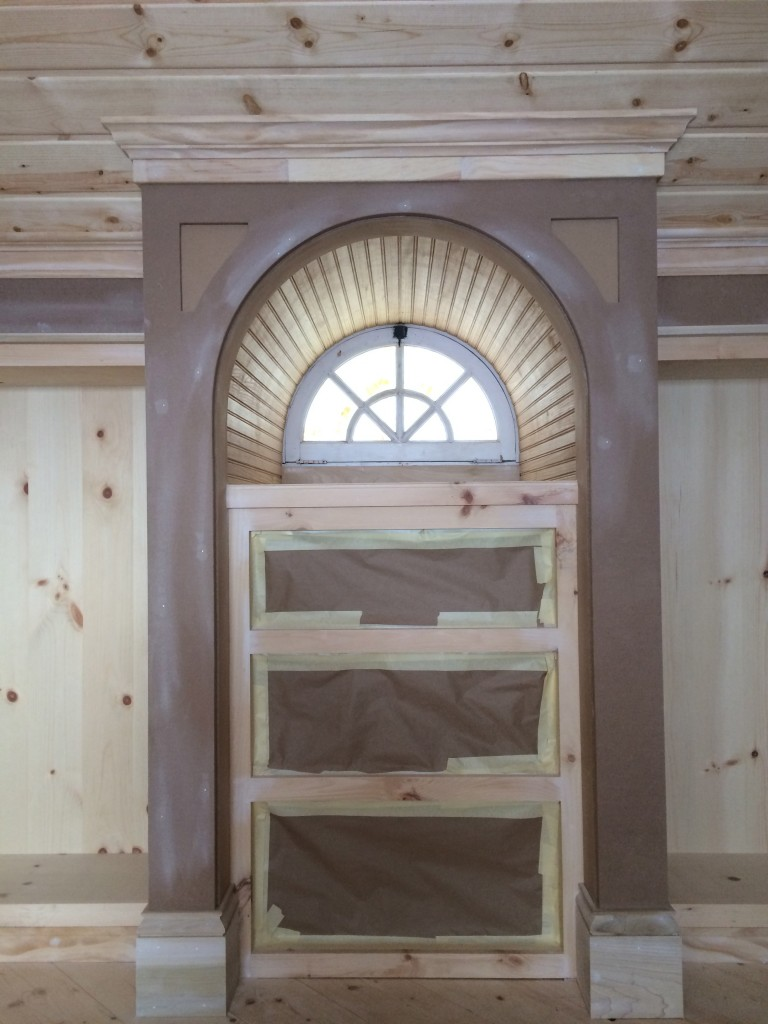 Boy's room-detailed arch window…Ready for paint!