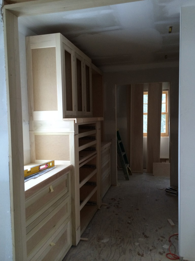 Master closets being installed!