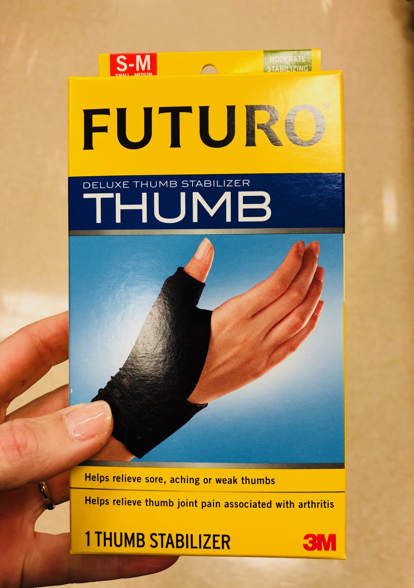 Standard thumb and wrist braces can be used at night to rest overuse injuries.