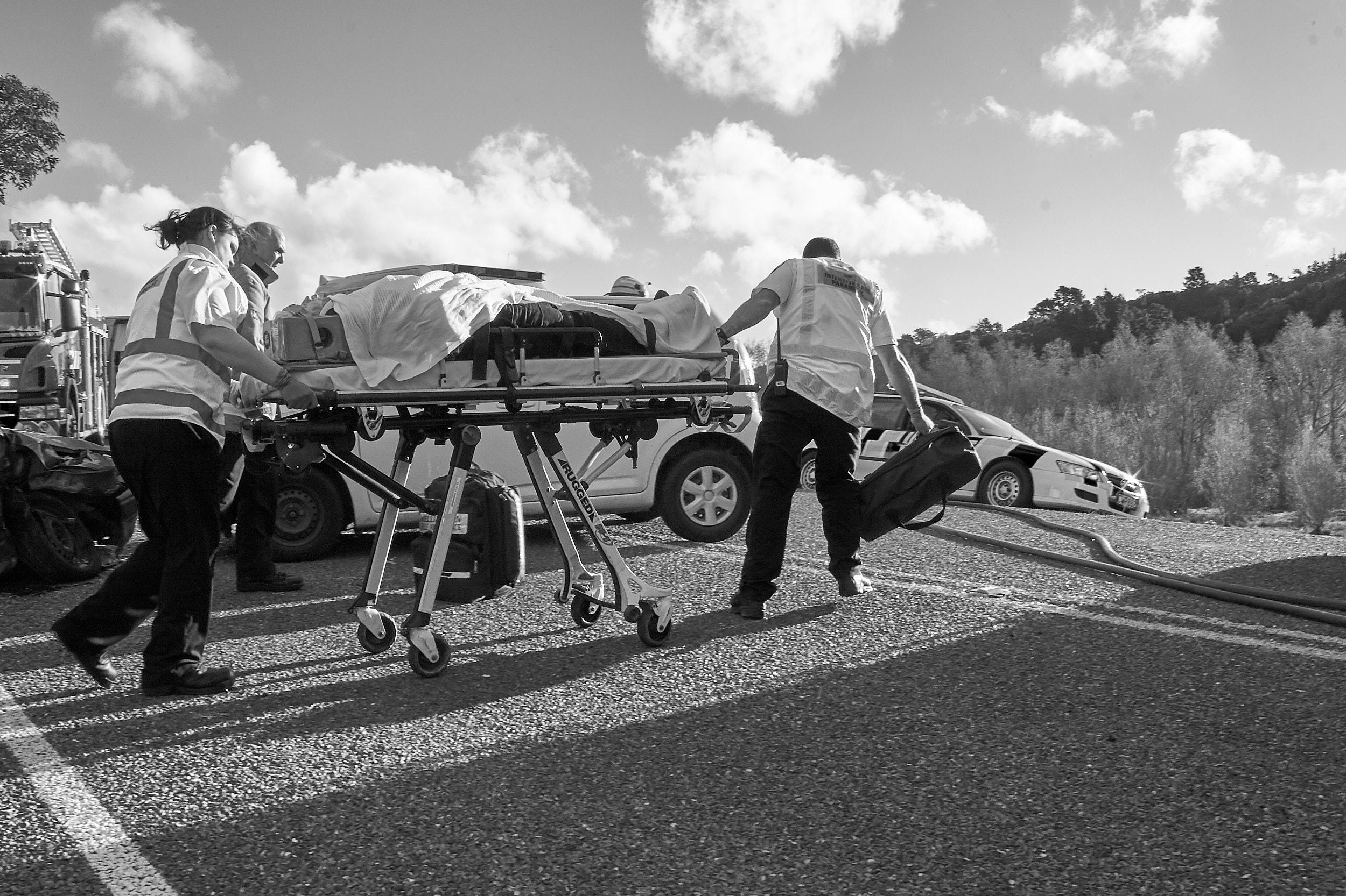 Ambulance at work