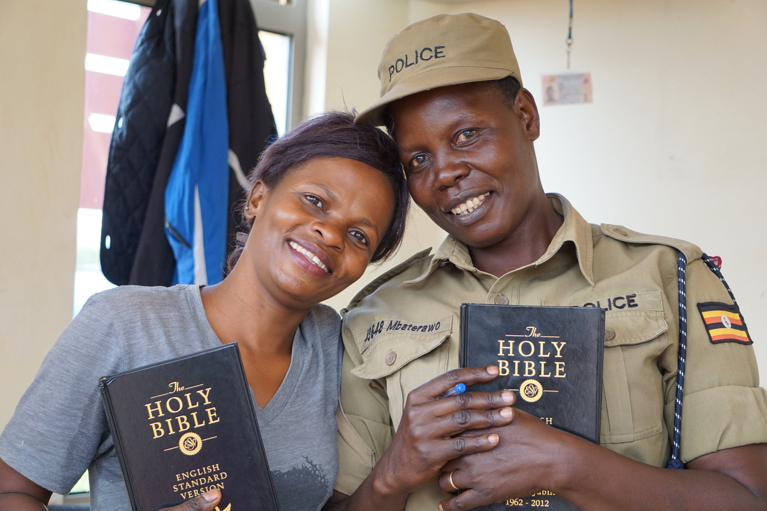 Florence + Joyce - Florence is the leader of our hospital ministry and Joyce is the security guard at the hospital.