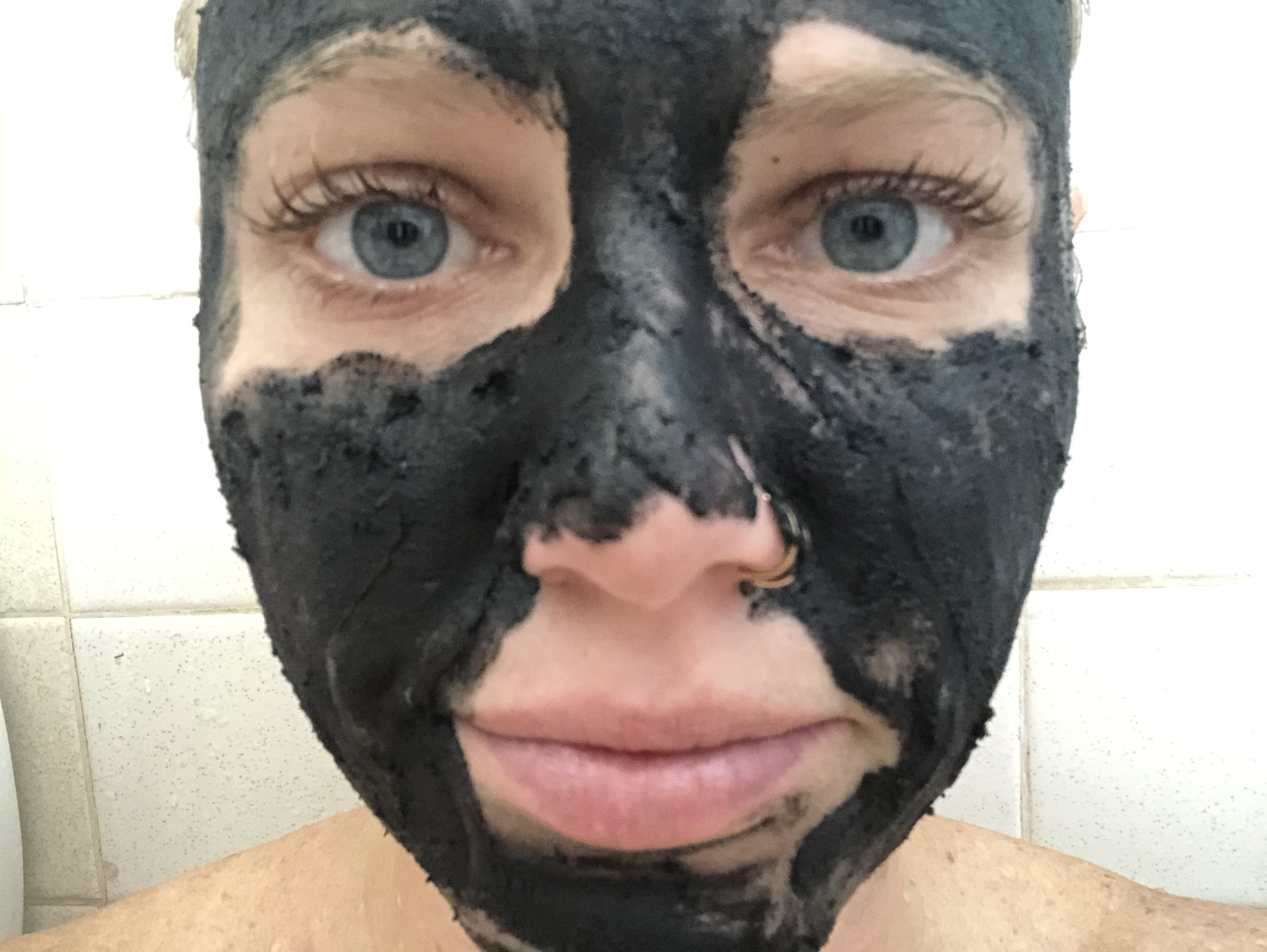 For the integrity of the photo, I did another charcoal mask. Lol. This is now, 8 months after using lash boost.