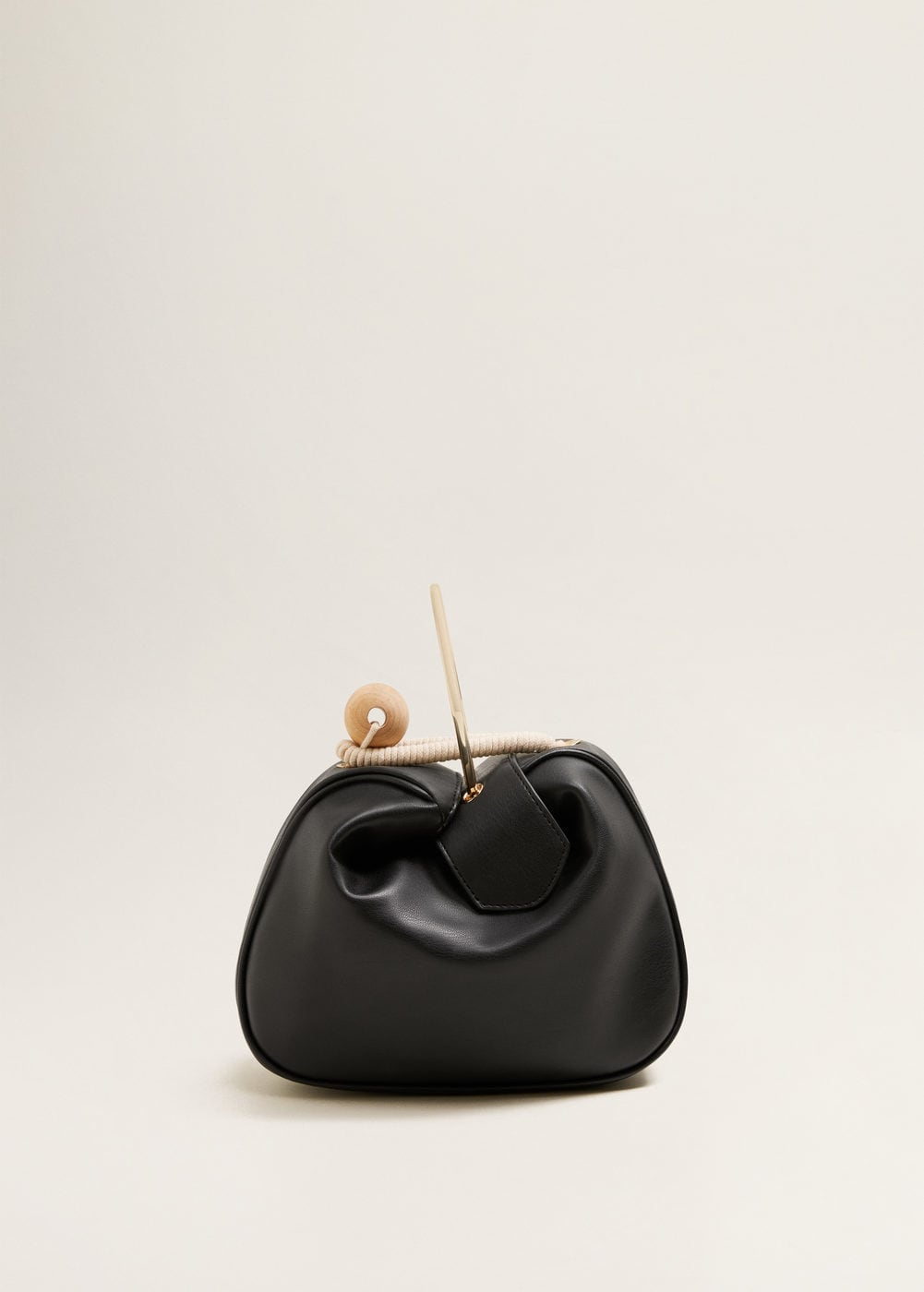 Wood Detail Bag | Mango