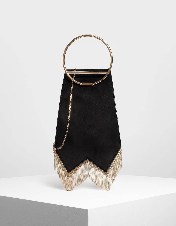 Black Circular Top Handle Bag | Charles & Keith