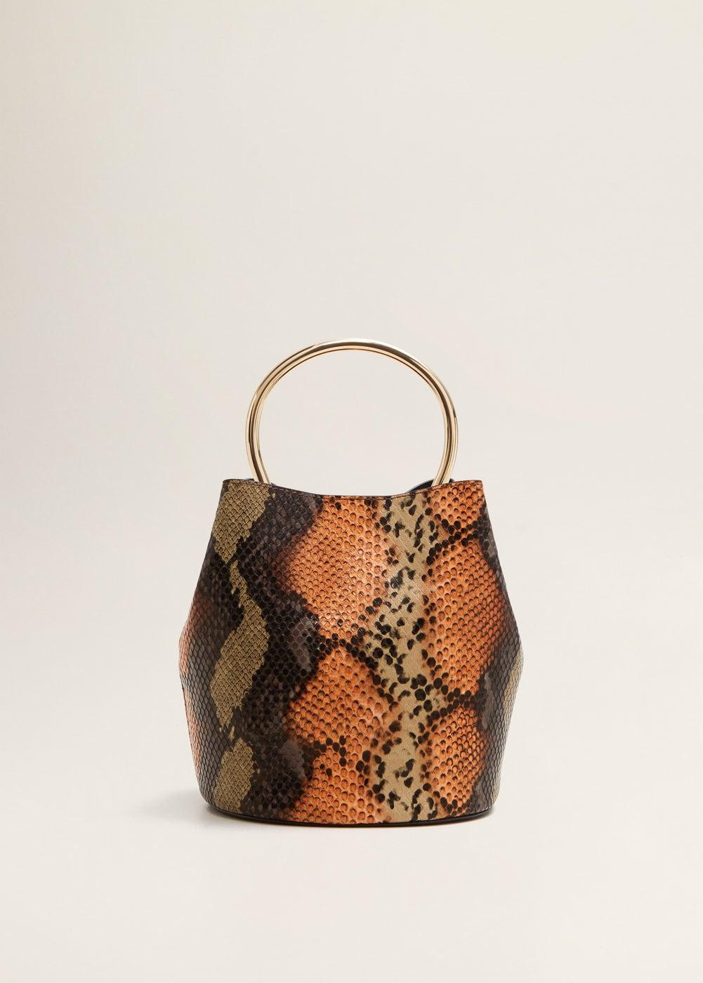 Metallic Handle Bag | Mango