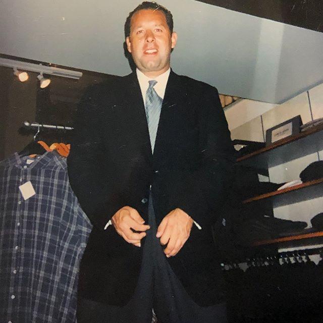 Giorgio Armani back in 1989... I was tiny with hair & a little too cocky for my own good...#tb #armani #formerlife #giorgioarmani #jray