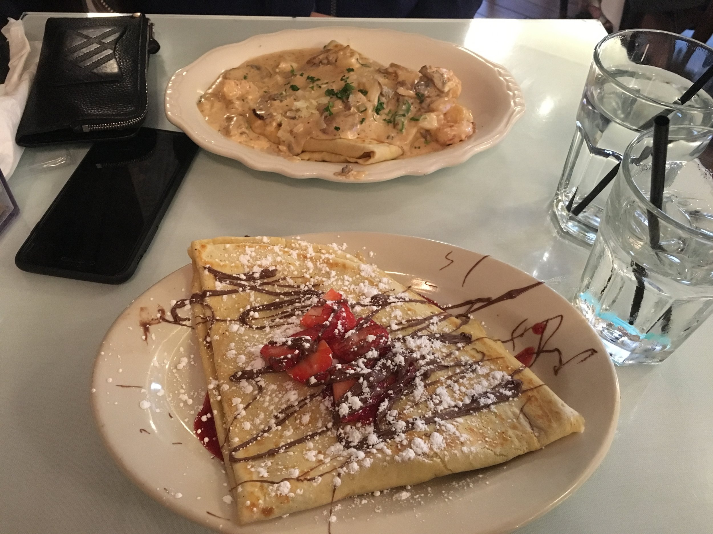 Crepes at ATL en route to ORD