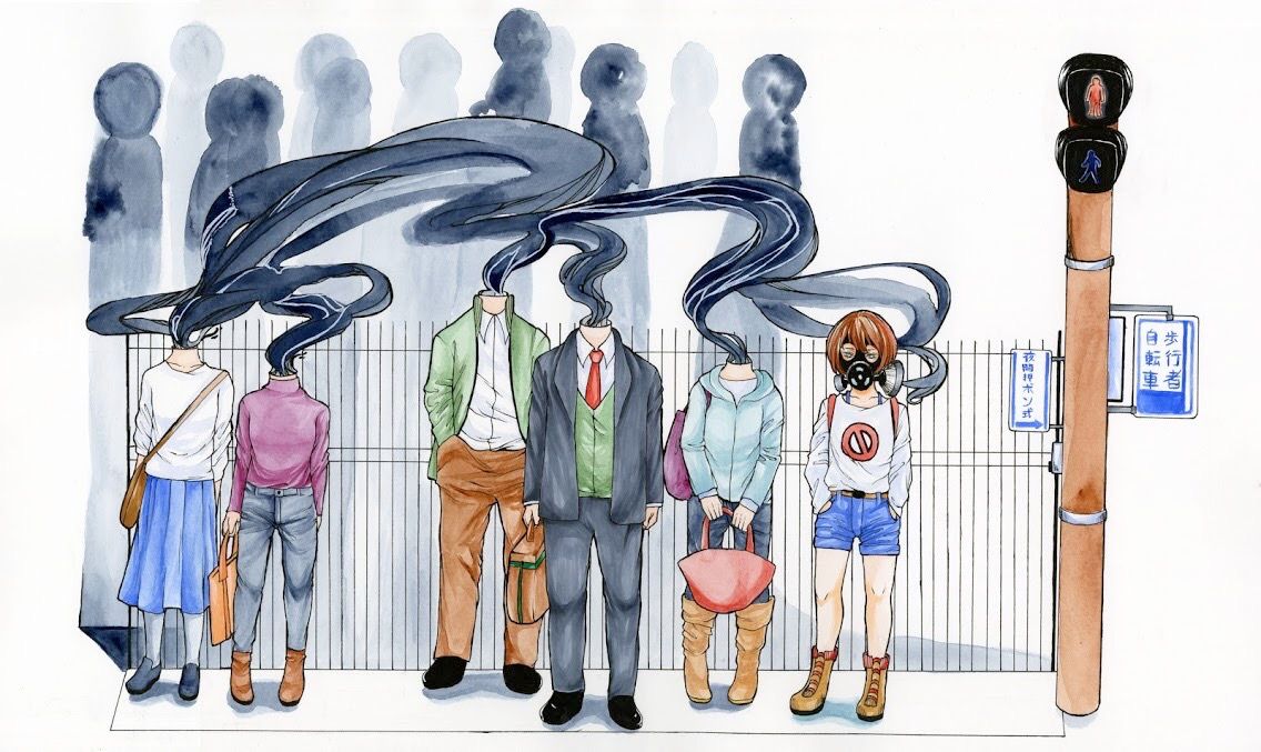 This shows that an individual can be isolated in society even when surrounded by people: the girl is fenced in with the hard showing society's polluting thoughts toward teenagers and how damaging they can be to a teenager's character.