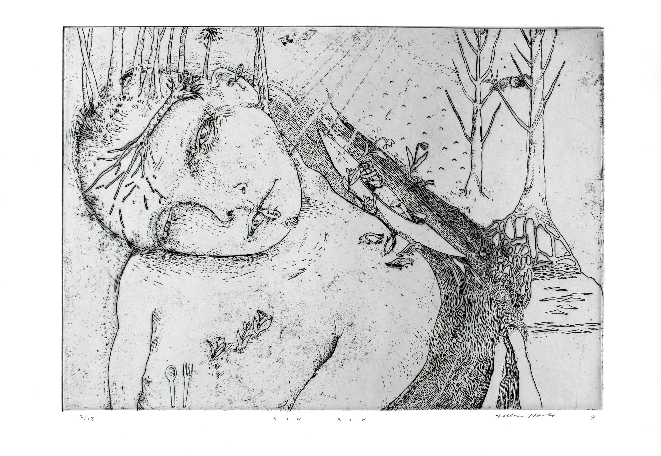 Copper intaglio etching collaboration with  Dellas Henke .