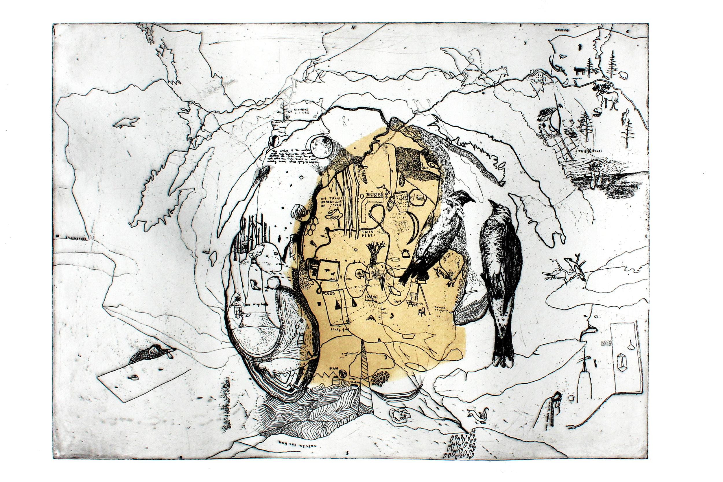 4. Keziah Philipps, Michigan, copper etching with chin collé, 25cm x 40cm.jpg