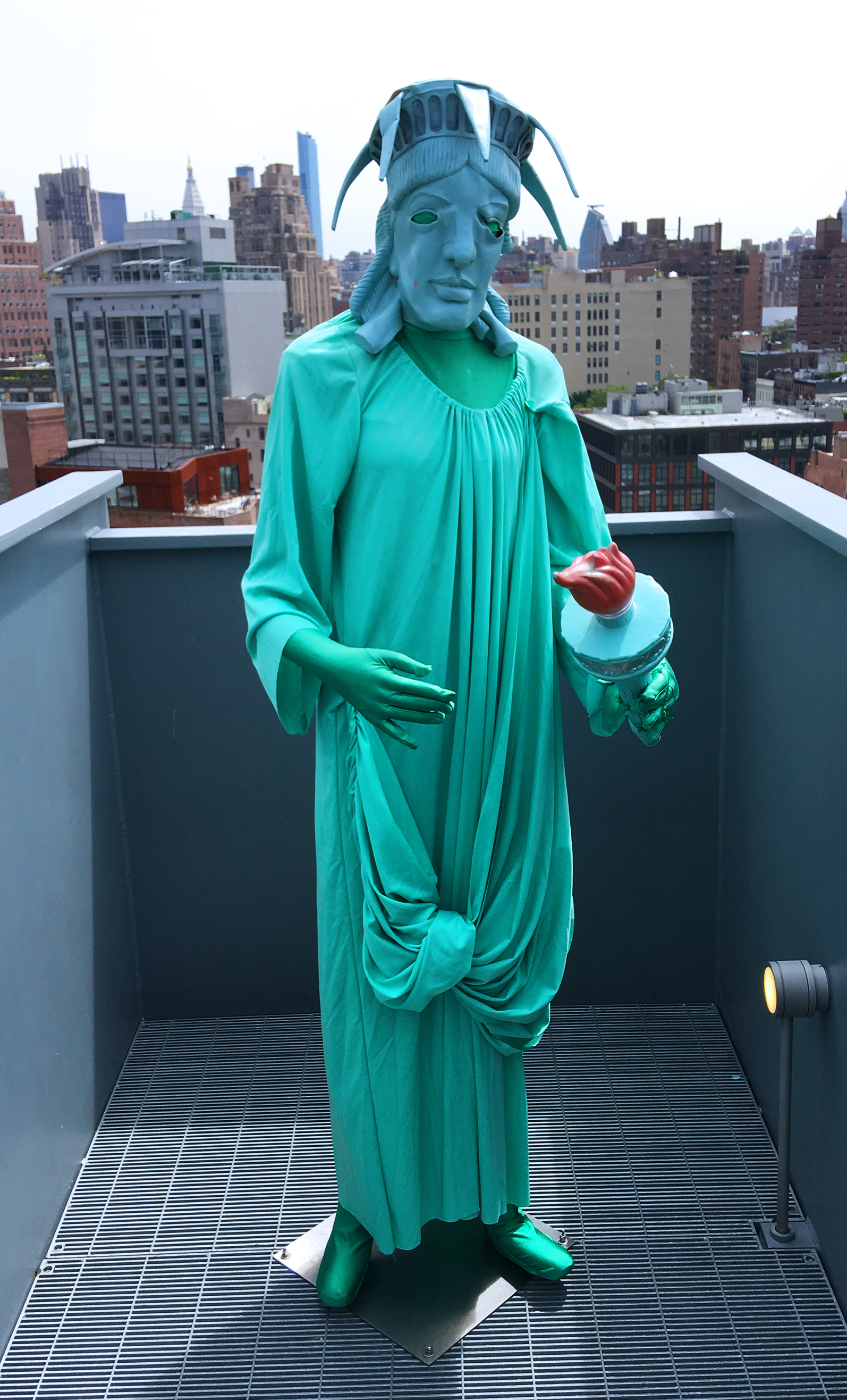 Statue of Liberty (kind of sad) at the Whitney Museum, NYC