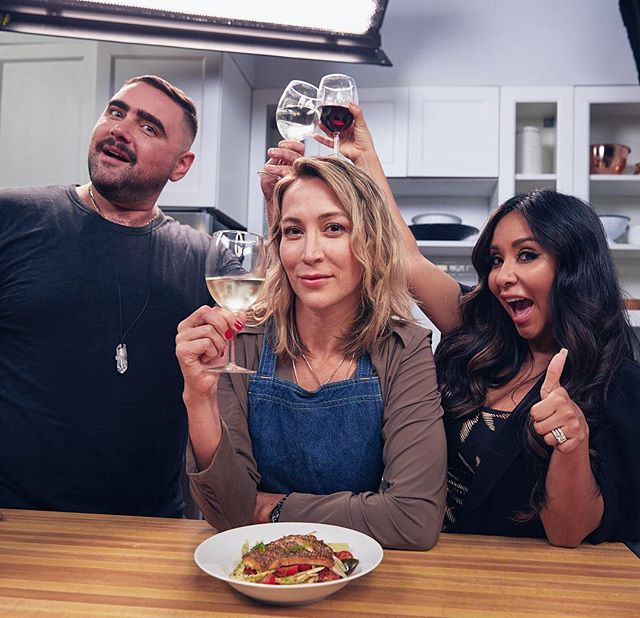"LINK IN BIO!!! ""Cooking in the Crib w/Snooki & Joey"" is live. It's a s**t show and a half. These guys are freaking hilarious, check em out! Can't wait to see the rest of the episodes! @snooki @misterp79 @mtv_cribs @mtv . . . . #cookinginthecrib #snooki #misterp79 #couldi #mtvcribs #mtv #viacom #jerseyshore #youtube #shitshow #masterchef #crispyskinfish #alwayswine #wineanddine #cookyourfaceoff"
