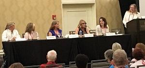 Jenna Kernan on the Romantic Suspense panel at Bouchercon 2018, the World Mystery Conference.