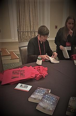 Author Ian Rankin signing at Bouchercon 2018