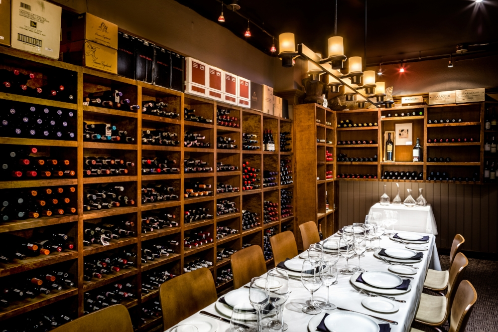 - The Wine RoomThe Wine Room is the most intimate of our private spaces.This working wine cellar is perfect for smaller gatherings. Available for groups of 6-12..