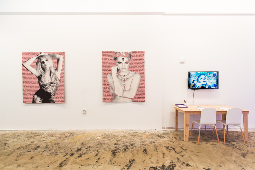 "Installation view of works by Sara Clugage and Faith Holland in ""2 Freaky 2 Friday"" at Pelican Bomb Gallery X, New Orleans. Photo by Roman Alokhin."