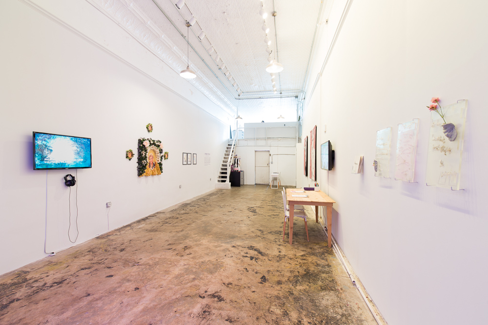 "Installation view of ""2 Freaky 2 Friday"" at Pelican Bomb Gallery X, New Orleans. Photo by Roman Alokhin."
