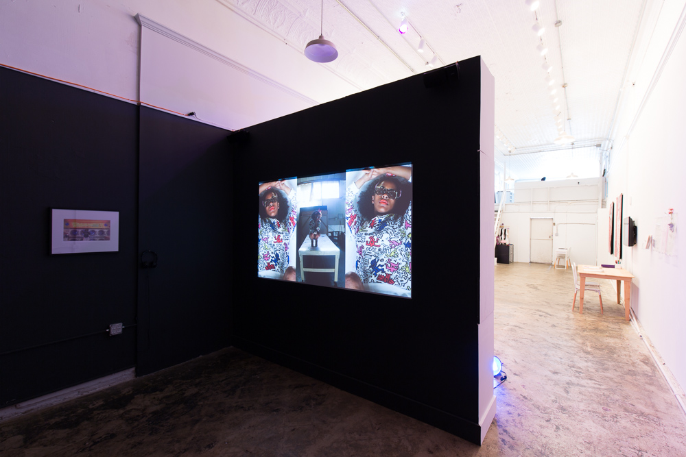 "Installation view of Tameka Jenean Norris a.k.a. Meka Jean's  Ivy League Ratchet , 2016, in ""2 Freaky 2 Friday"" at Pelican Bomb Gallery X, New Orleans. Courtesy the artist and David Shelton Gallery, Houston. Photo by Roman Alokhin."