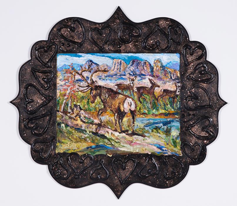 Elk Bum Scene (after Gladys Johnston)