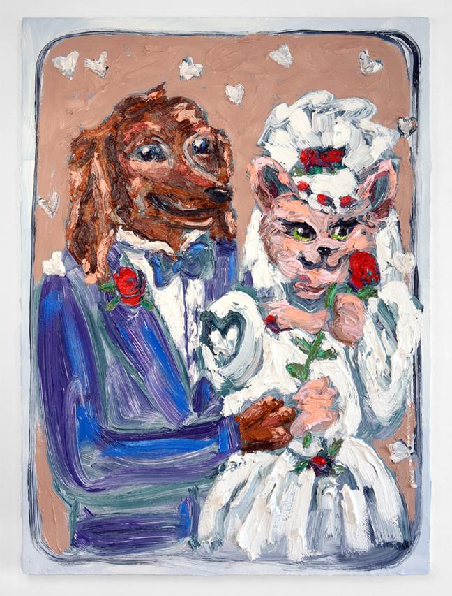 Cat Bride (after Lisa Frank)