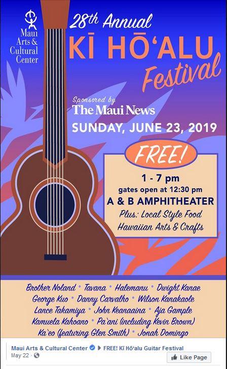 - Maui Slack Key FestivalJune 23, 2019