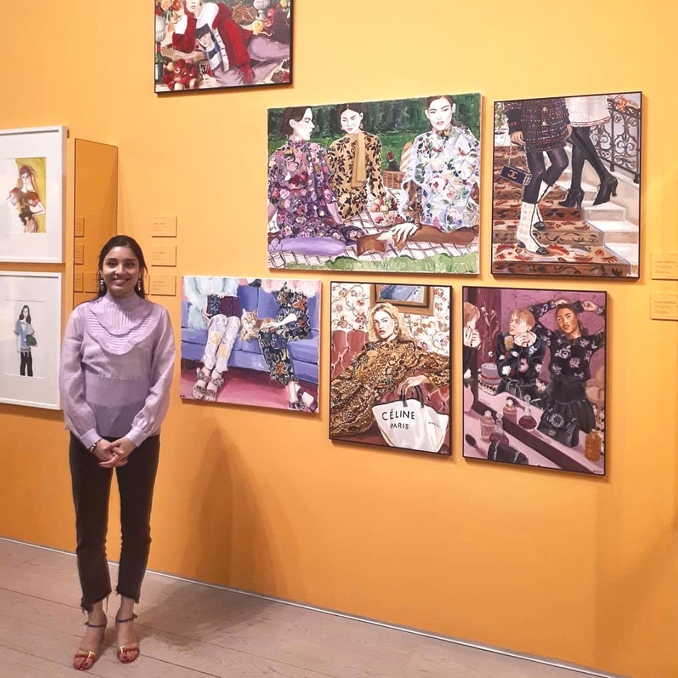 Gulshani stands in front of her work at the Museo ABC in Madrid.