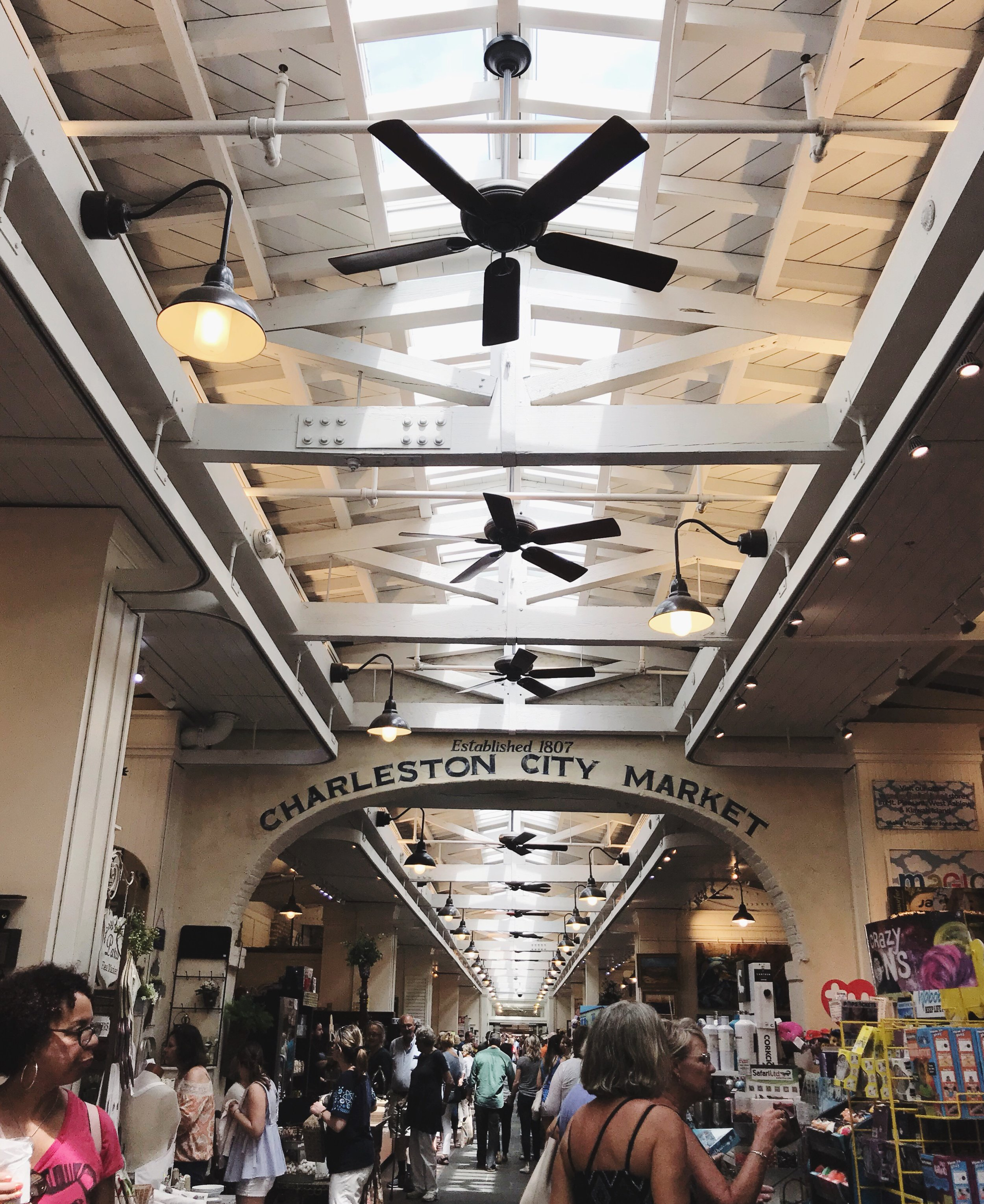 Inside the Historic Charleston City Market.