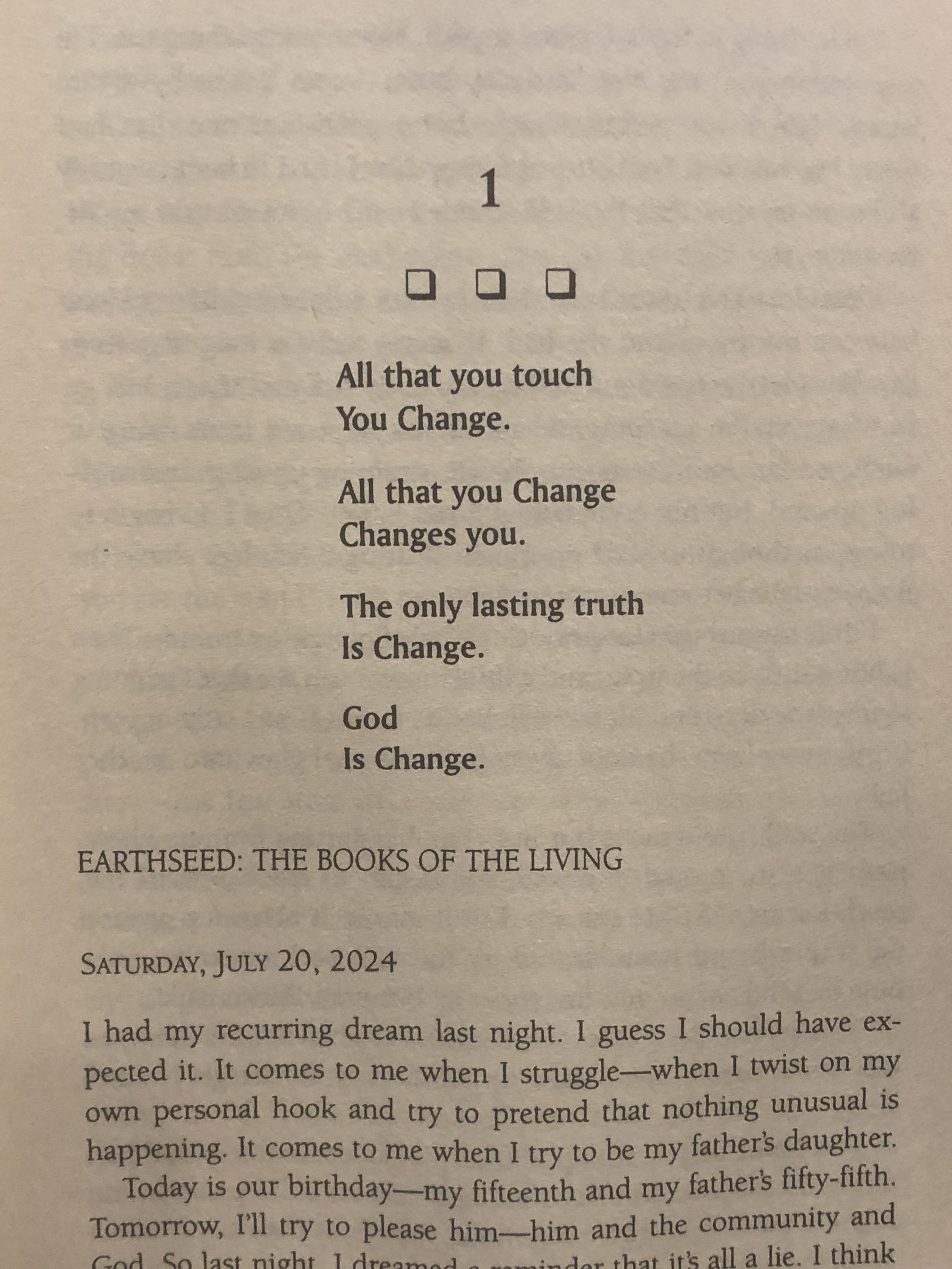 Parable of the Sower - by Octavia E. Butler