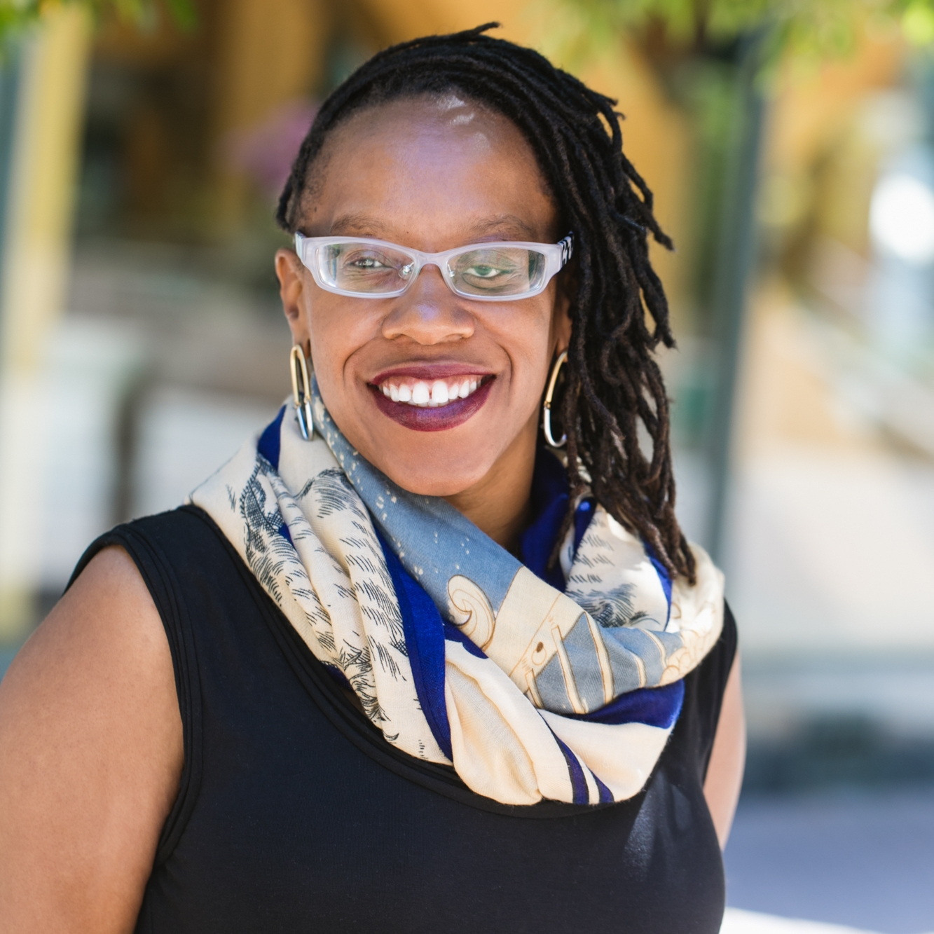 LATEEFAH SIMON - CIVIL RIGHTS ADVOCATEACTIVISTSTANDING FOR RACIAL JUSTICE