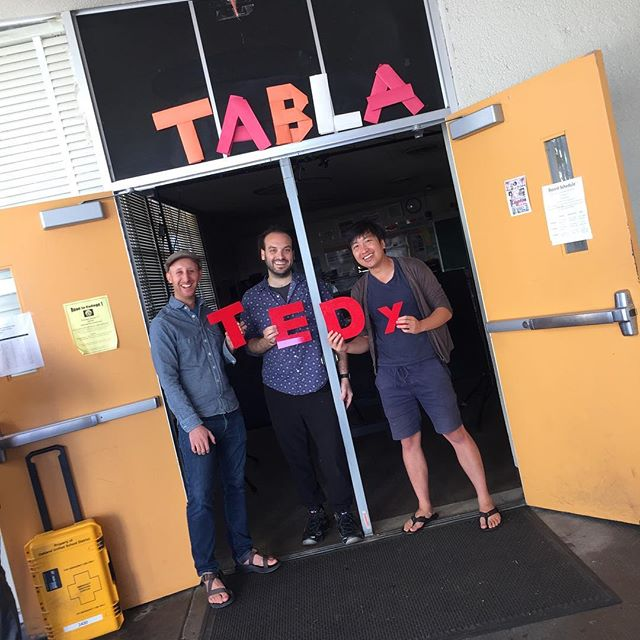 We have great experience tech demo teams just outside the auditorium. These guys are doing interactive motion graphics detecting your movement and others have great demos like the robotic motors. Don't miss those! #tedxoakland #oakland #interactiveart #robotics #technology #shapingtomorrow