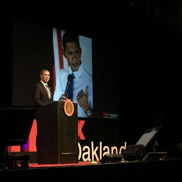 We are still trying to figure out if it was Obama or Reggie Brown at #TEDxOakland 🤔 Safe to say the entire audience was entertained! Thanks @iamreggiebrown for the amazing talk and impressive impersonation 🙌🏽 #ShapingTomorrow #oakland