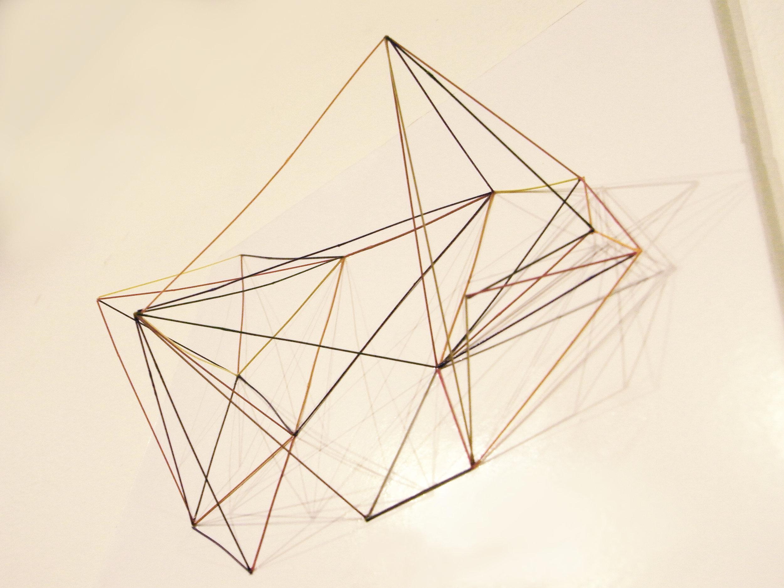 Space Sketch 2 (Detail) / 2011 / Mechanical pencil lead refill, Graph paper / 54x78x15 cm